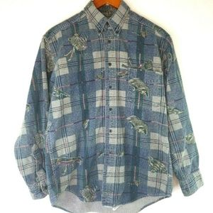Woolrich Medium Vintage Button Up Plaid Flannel